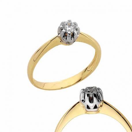Złoty pierścionek PB166