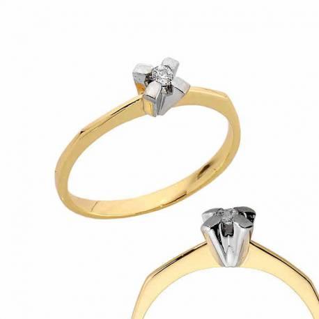 Złoty pierścionek PB174
