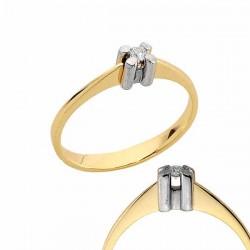 Złoty pierścionek PB178