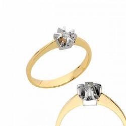 Złoty pierścionek PB179