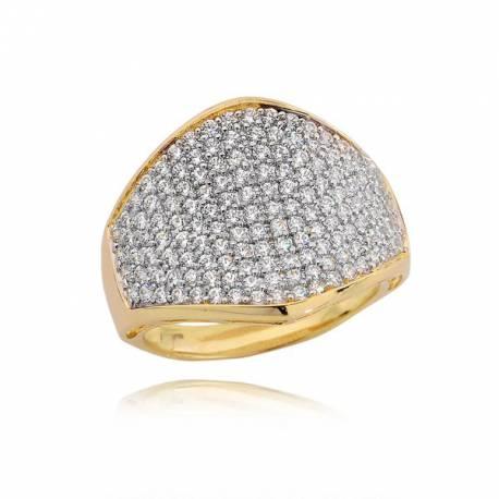 Złoty pierścionek P1654