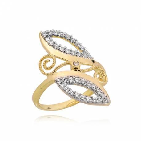 Złoty pierścionek P1639