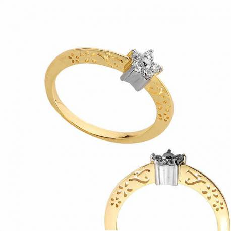 Złoty pierścionek PB181