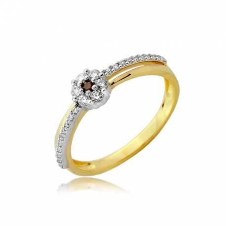 Złoty pierścionek P1912