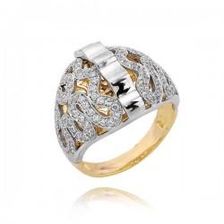 Złoty pierścionek PB193