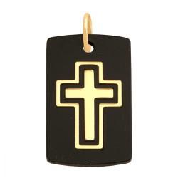 Złoty medalik,krzyżyk wzór-32357