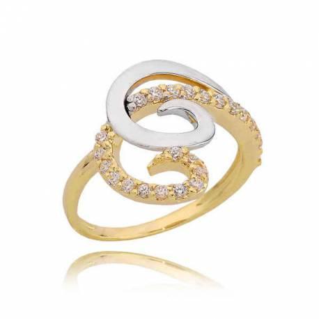 Złoty pierścionek PB218