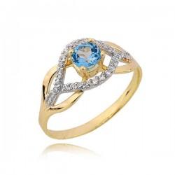 Złoty pierścionek PB234