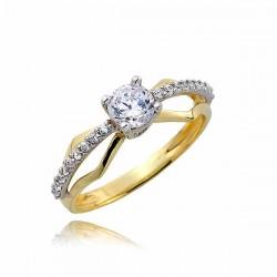 Złoty pierścionek PB244