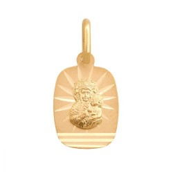 Złoty medalik,krzyżyk wzór-22975