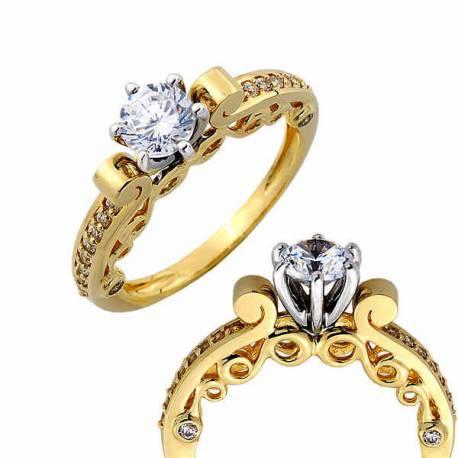 Złoty pierścionek PB259