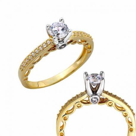 Złoty pierścionek PB263