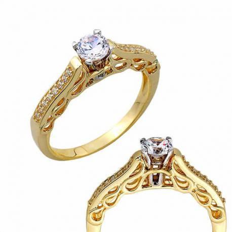 Złoty pierścionek PB266