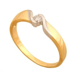 Pierścionek złoty Dp176