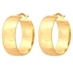 Złote kolczyki koła wzór-42835
