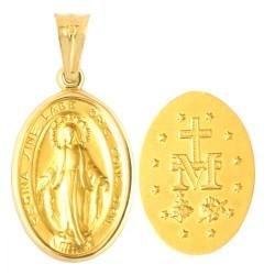Złoty medalik,krzyżyk wzór-31443