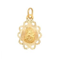 Złoty medalik,krzyżyk wzór-5239