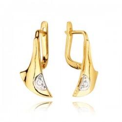 Kolczyki złote z cyrkoniami KB22