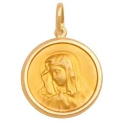 Złoty medalik,krzyżyk wzór-29853