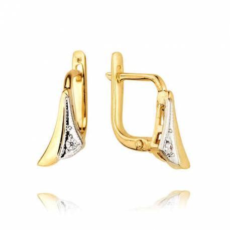 Kolczyki złote z cyrkoniami KB35