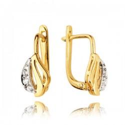 Kolczyki złote z cyrkoniami KB44