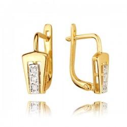Kolczyki złote z cyrkoniami KB54