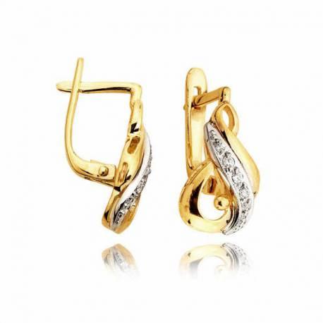 Kolczyki złote z cyrkoniami L4K