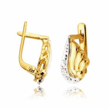 Kolczyki złote z cyrkoniami L19K