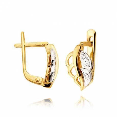 Kolczyki złote z cyrkoniami L31K