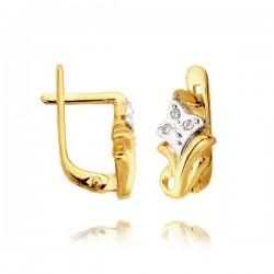 Kolczyki złote z cyrkoniami L35K
