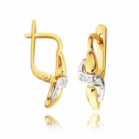 Kolczyki złote z cyrkoniami L38K