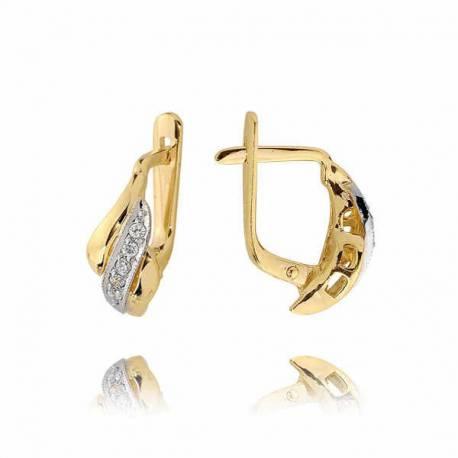 Kolczyki złote z cyrkoniami N11K