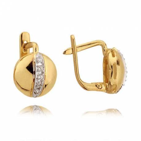 Kolczyki złote z cyrkoniami N19K