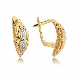 Kolczyki złote z cyrkoniami N24K