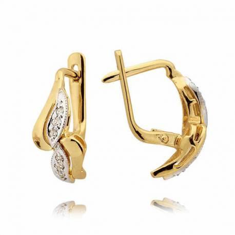 Kolczyki złote z cyrkoniami N26K