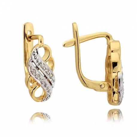 Kolczyki złote z cyrkoniami N27K