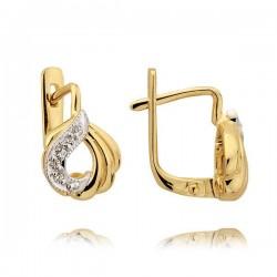 Kolczyki złote z cyrkoniami N28K