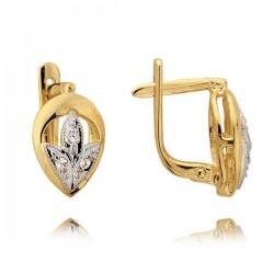 Kolczyki złote z cyrkoniami N33K