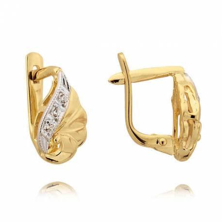 Kolczyki złote z cyrkoniami N34K