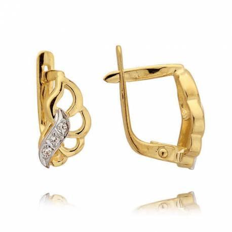 Kolczyki złote z cyrkoniami N40K