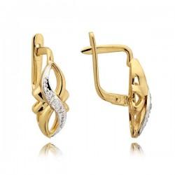 Kolczyki złote z cyrkoniami N41K