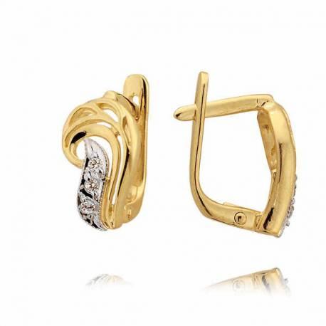 Kolczyki złote z cyrkoniami N42K