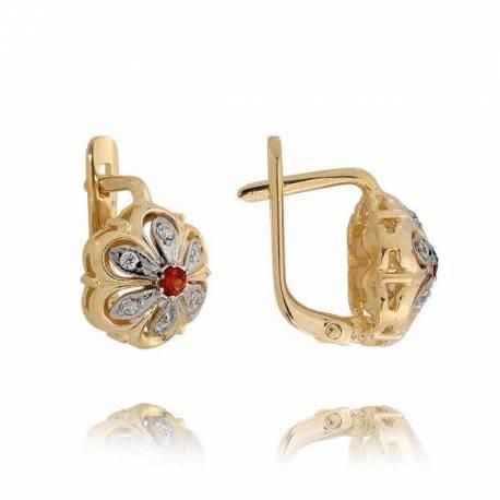 Kolczyki złote z cyrkoniami N44K