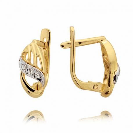 Kolczyki złote z cyrkoniami N47K