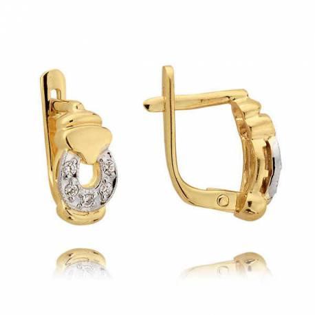 Kolczyki złote z cyrkoniami N50K