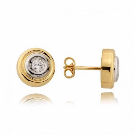 Kolczyki złote z cyrkoniami N64K