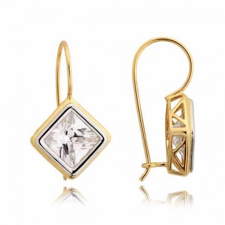 Kolczyki złote z cyrkoniami N66K