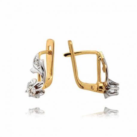 Kolczyki złote z cyrkoniami N81K