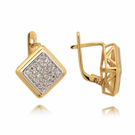 Kolczyki złote z cyrkoniami N85K