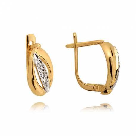 Kolczyki złote z cyrkoniami N99K